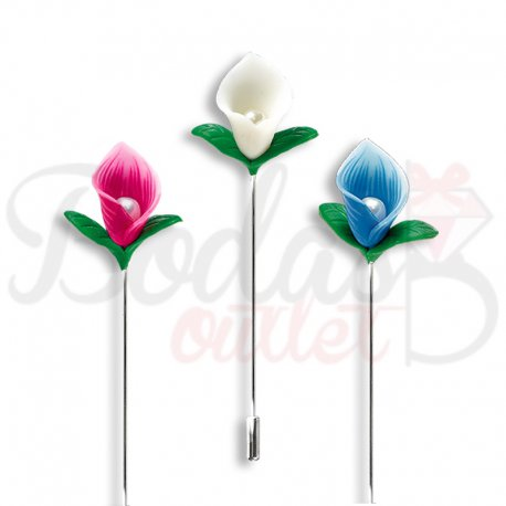 Fimo Flower Pin