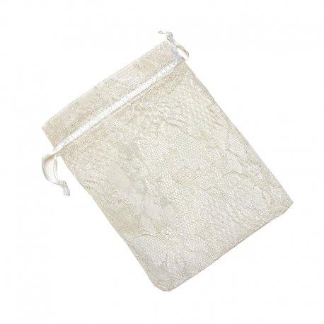 Lace Organza Bags 10 x 8