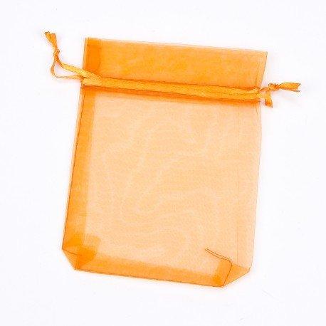 Organza Bags Orange 12 x 9