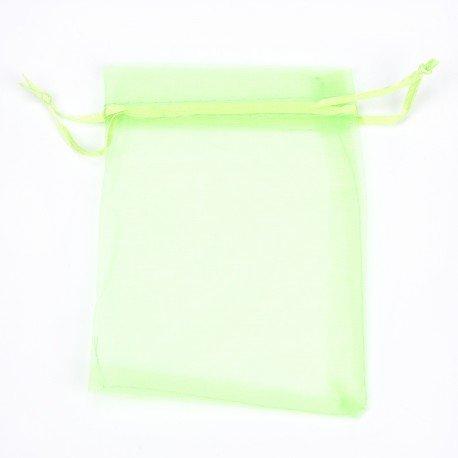 Organza Bags Green 17x12