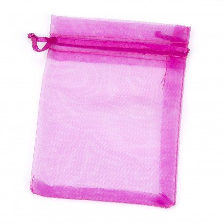 "Organza Bags Fuchsia 7 x 5"""