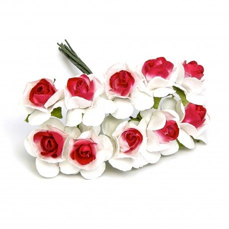 Paper Flowers White And Red