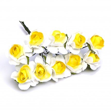 Paper Flowers Yellow And White
