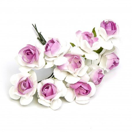 Paper Flowers White And Pink