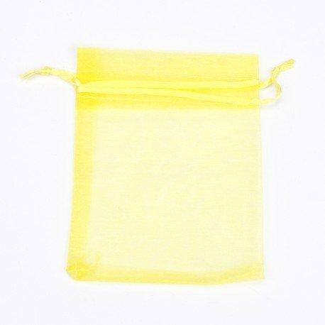 Organza Bags Yellow 12 x 9