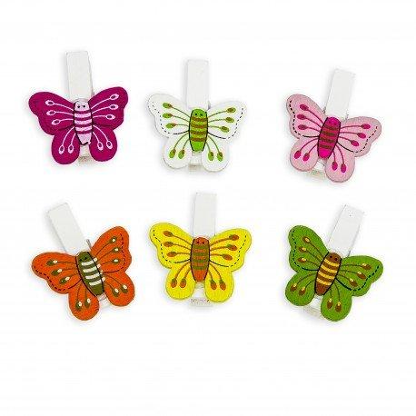 Mini Wooden Pegs Butterfly