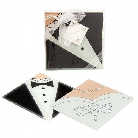 Wedding Glass Coasters