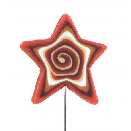 Fimo Clay Pins Star