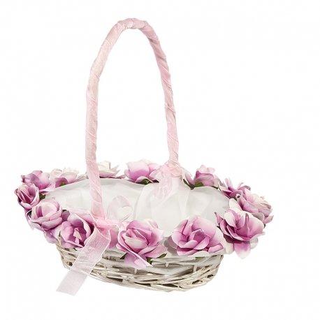 Flower Girl Wicker Basket