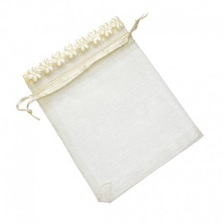 Organza Bags Beige 10 x 8